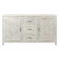Home Decorators Collection Chennai 3-Drawer whitewash Dresser 9468000410 at The Home Depot - Mobile