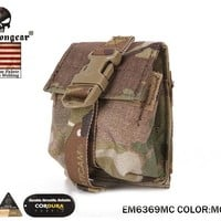 Emersongear LBT Style Single Frag Grenade Pouch Molle Military Airsoft Combat Gear 500D Multicam EM6369MC