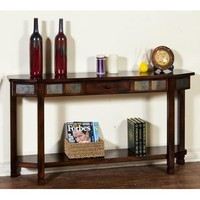 Sunny Designs Santa Fe Entry Console In Dark Chocolate