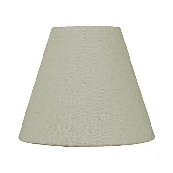 """6""""W x 5""""H Chandelier Sand Linen Clip-On Lampshade"""
