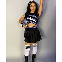 6 pc Daddy's Girl Cheerleader Costume