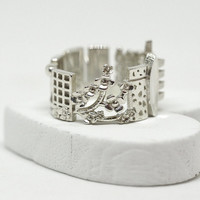 Tokyo Cityscape - Skyline Statement Ring - Gift for Her - Long Distance Relationship - Kawaii - Valentines