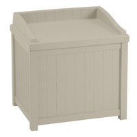 Saint Albans 22 Gallon Cube Deck Box Indoor Outdoor Furniture Taupe Finish