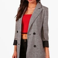 Tall Check Blazer | Boohoo