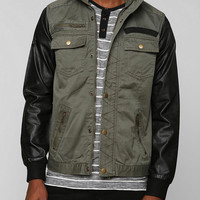Urban Outfitters - Black Apple Frazier Vegan Leather Sleeve Jacket