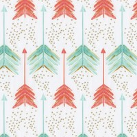 Carousel Designs Coral and Teal Arrows Crib Sheet