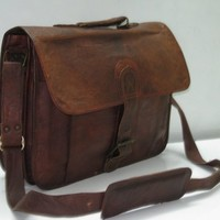 15 inches/inch Handmade Pure Genuine Soft Camel Leather Padded Lapt......   GenuineProducts - Bags & Purses on ArtFire