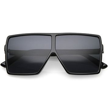 Kids Flat Top Square Neutral Colored Lens Small Oversize Sunglasses D022