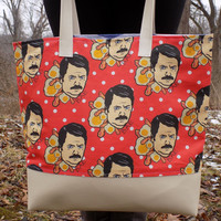 BAE Custom Printed Canvas Tote Bag With Vinyl Accent