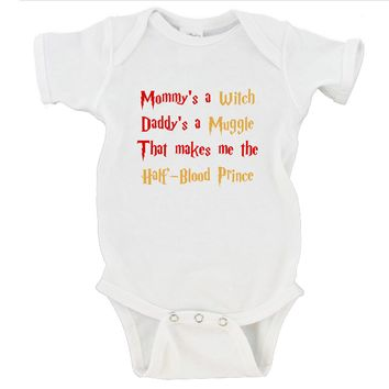 Mommy's a Witch Daddy's a Muggle That Makes Me the Half-Blood Prince Gerber Onesuit ®
