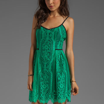 Nanette Lepore Carousel Lace Dress in Basil from REVOLVEclothing.com