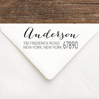 Custom Address Stamp - Stationery Stamp Housewarming Gift - Christmas Self-Inking Stamp - Personalized Gift for First Home - Teacher Gift