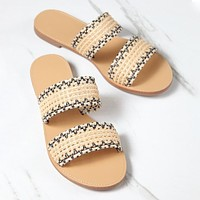 2020 new women's fashion all-match flat-bottom slippers shoes