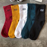 Givenchy Men Fashion Casual Sport 100% Cotton Socks+Gift Box