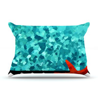 "Oriana Cordero ""Turquoise Ocean"" Fleece Pillow Case - Outlet Item"