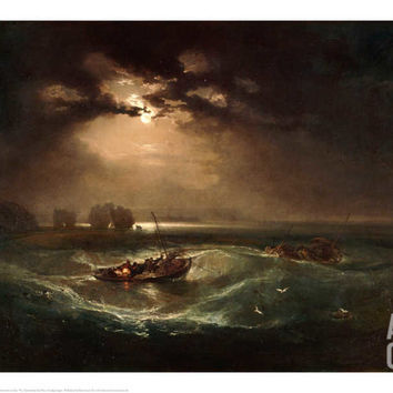 Fishermen at Sea, The Cholmeley Sea Piece, 1796 Giclee Print by J.M.W. Turner at Art.com