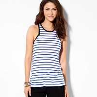 AE Zip-Back Tank, Electric Cobalt | American Eagle Outfitters