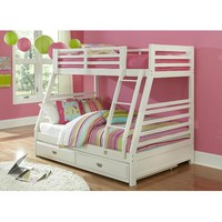 Hillsdale Bailey Twin/Full Bunk Bed In White