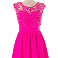 Gorgeous in Lace Dress - Pink