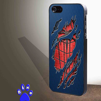 Peter Parker Ripped Torn cloth for iphone 4/4s/5/5s/5c/6/6+, Samsung S3/S4/S5/S6, iPad 2/3/4/Air/Mini, iPod 4/5, Samsung Note 3/4 Case *NP*