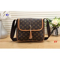 LV hot selling fashion women's printing color matching shoulder bag shopping bag #3