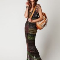 Free People FP Spun Fools Gold Crochet Dress at Free People Clothing Boutique