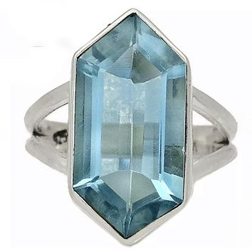 Alexandrite Crystal Point Sterling Silver Ring