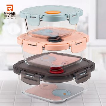Glass Crisper Household Refrigerator Microwave Receive A Case To Heat Seal Preservation Bowl Bento Box Of Glass Bowl