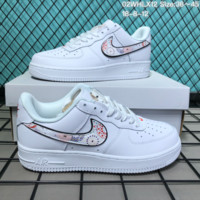 HCXX N276 Nike Air Force 1 CNY Low Fireworks Leather Skate Shoes White