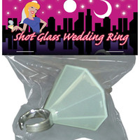 Bachelorette's Wedding Ring Shot Glass