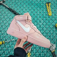 Nike Air Force 1 Mid AF1 PIET Pink Women's Fashion Shoes - Best Online Sale