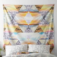 Magical Thinking Faceted Landscape Tapestry- Pink One