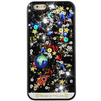 Galaxy Glitter Black Waterfall iPhone Case