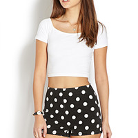 Mod Dots Denim Shorts