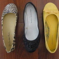 Lot of 3 Flats: Bow, Cheetah, Studded [Sz 6] from Poison