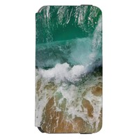 Green Shimmering Ocean Waves and sand iPhone 6/6s Wallet Case