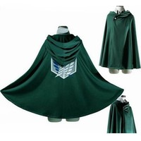 Cool Attack on Titan  Anime no  Cloak Cape Clothes Halloween Cosplay AT_90_11