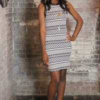 Quilted Body Con Dress