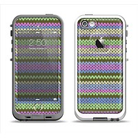 The Colorful Knit Pattern Apple iPhone 5-5s LifeProof Fre Case Skin Set
