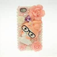 flower pearl protective case for iPhone 5/5c/4/4s, spring phone shell,personalized gift,mobile accessories,the flower sisters