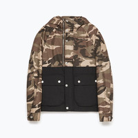 Combined hooded jacket