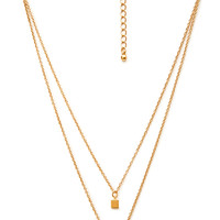 FOREVER 21 Layered Geo Pendant Necklace