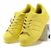 """""""Adidas"""" Fashion Superstar Candy Color Shell-toe Flats Sneakers Sport Shoes High Quality Yellow"""