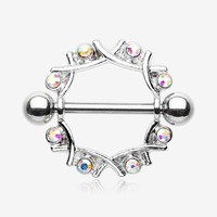 A Pair of Sparkle Weave Nipple Shield Ring