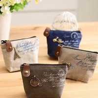 Christmas Gift New 2014 fashion Vintage Zipper Coin Purse wallets Mini bag Cheap Retro Classic Nostalgic Small Money Bags