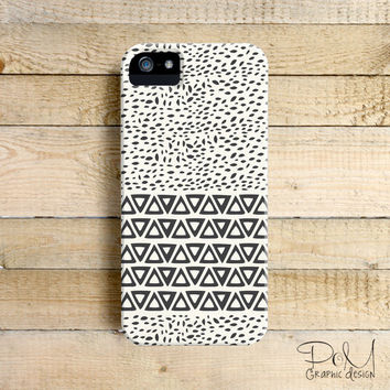 Minimal Aztec Wind Leaves Art Phone Case for iPhone 4, 4s, 5, 5s, 5c and Samsung Galaxy S3 & S4