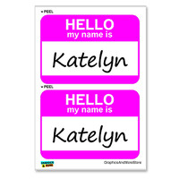 Katelyn Hello My Name Is - Sheet of 2 Stickers
