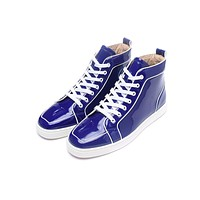 Christian Louboutin CL Man Fashion Casual Shoes Men Fashion Boots fashionable Casual leather Breathable Sneakers Running Shoes