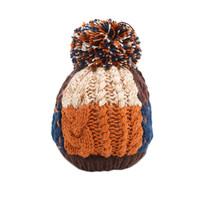 Infant Baby Winter Warm Knitting Baby Beanie Hat Caffee