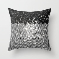 Chevron Universe Throw Pillow by Belle13